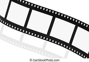 Film strip empty on white