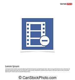 Film strip icon - Blue photo Frame