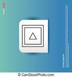 Film strip icon - Blue Sticker button