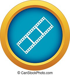 Film strip icon blue vector isolated