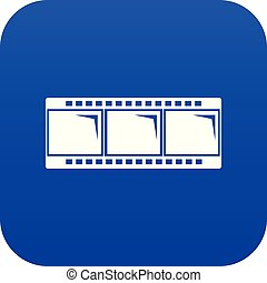 Film strip icon blue vector