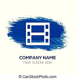 Film strip icon - Blue watercolor background