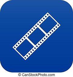 Film strip icon digital blue