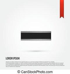 Film strip icon. Flat design style. Template