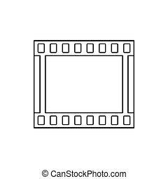Film strip icon in outline style