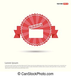 Film strip icon - Red Ribbon banner