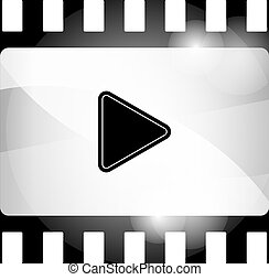 film strip icon with play sign