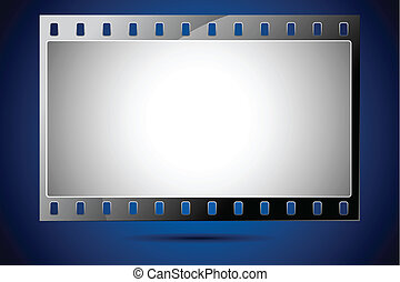 Film Strip - illustration of film strip frame on abstract ...