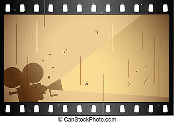 Film Strip - illustration of film strip frame on abstract...
