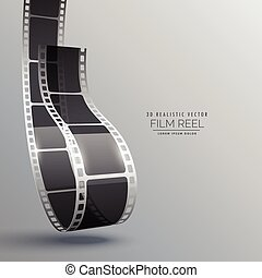 film strip in 3d style vector design