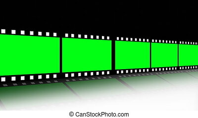Film strip in Motion - 1920 x 1080 green screen film strip...