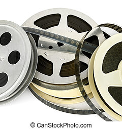 Film strip isolated on white background.