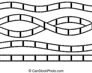 film strip isolated on white