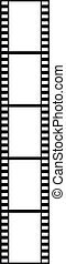 Film strip isolated on white background - vector