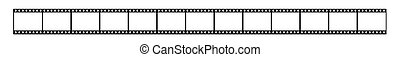 Film strip - Long film of shots on a white background