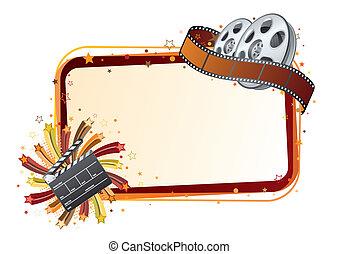 film strip, movie theme element - design element for movie ...