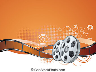 vector elements of the film theme, beautiful floral background