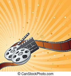 film strip, movie theme element