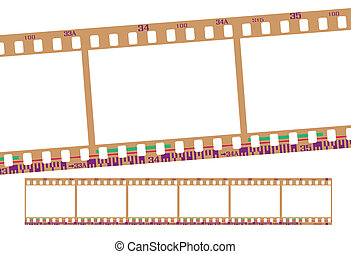 film strip, negative - film strip, with realistic negative...