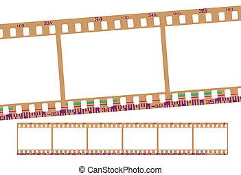 film strip, negative - film strip, with realistic negative ...