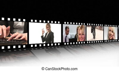 Film strip of Business people 1 - High Defintion Film Strip...