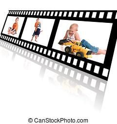 Film Strip of Family Memories