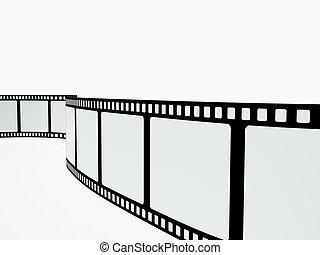 film strip on the white background