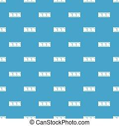 Film strip pattern vector seamless blue