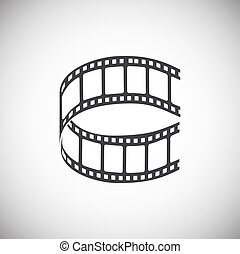 Film strip related icon on background for graphic and web design. Simple illustration. Internet concept symbol for website button or mobile app.