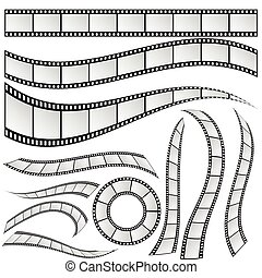 film strip set vector illustration