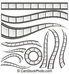 film strip set vector illustration