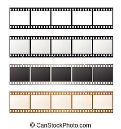 Film Strip Set. Vector