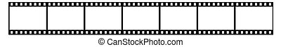 Film strip - Seven shots on a white background