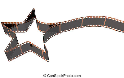 Film Strip Shooting Star Curled - A strip of blank old ...