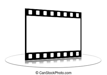 Film strip - Shots on a white background on a transparent...