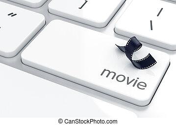Film strip sign button