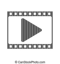 Film strip sign.