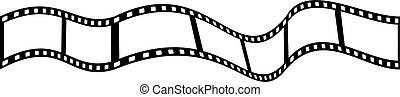 film strip - strip of camera film isolated on white