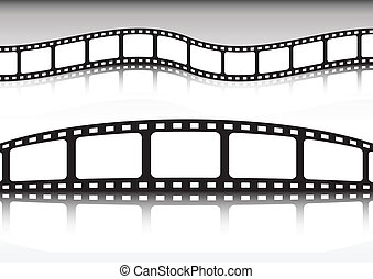 Film strip vector background illust