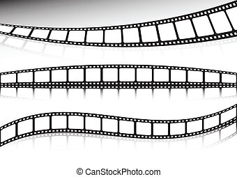 Film strip vector collection of bac