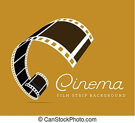 Film strip vector illustration on brown