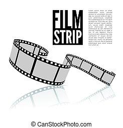 Film strip vector illustration