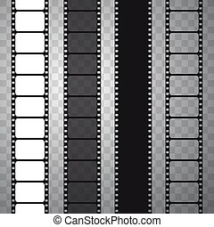 Film strip, vector illustration.