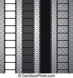Film strip, vector illustration.