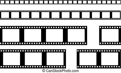 film strip vector . Realistic