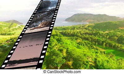 Film strip with different videos - Digitally generated ...