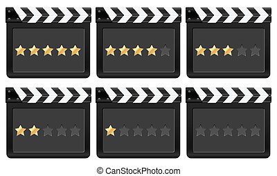 film strip with stars