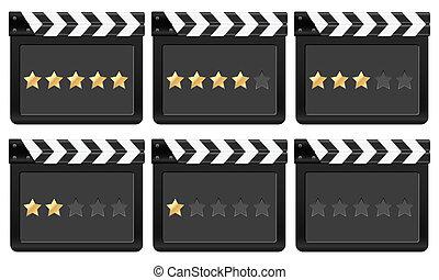 film strip with stars