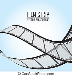 film stripes over blue background. vector illustration