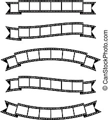 Film strips banner ribbon